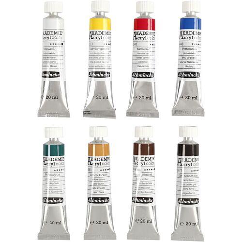 Packlinq Schmincke AKADEMIE® Acrylfarbe, 8x20ml