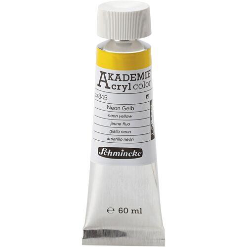 Packlinq Schmincke AKADEMIE® Acrylfarbe, Neon Gelb (845), Halb-opak, 60ml