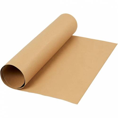 Packlinq Kunstlederpapier, B 50 cm, 350 g/qm, Hellbraun, 1m