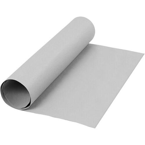 Packlinq Kunstlederpapier, B 50 cm, 350 g/qm, Grau, 1m