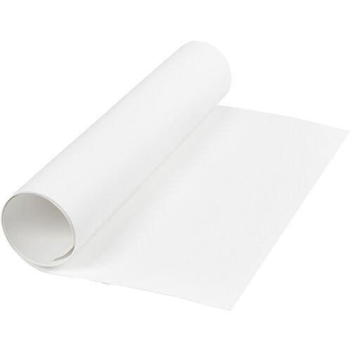Packlinq Kunstlederpapier, B 50 cm, 350 g/qm, Weiß, 1m