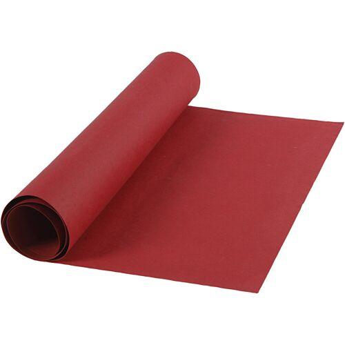 Packlinq Kunstlederpapier, B 50 cm, 350 g/qm, Rot, 1m