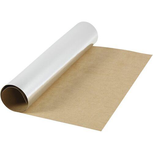 Packlinq Kunstlederpapier, B 49 cm, 350 g/qm, Silber, 1m