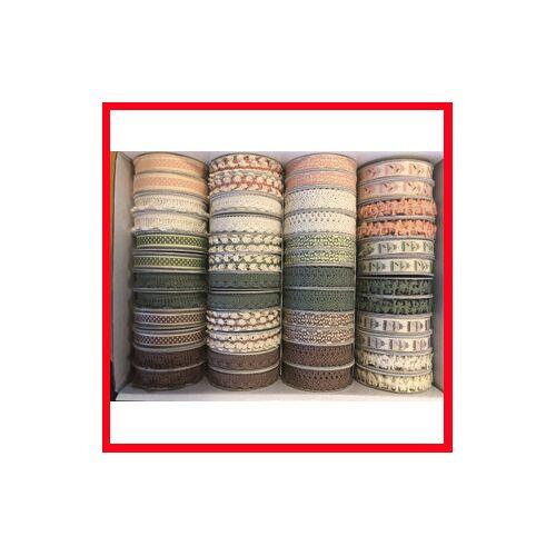 Packlinq Schleifenband - Sortiment, B 10-15 mm, Vintage, 48x2m