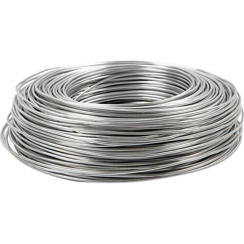 Packlinq Aluminiumdraht, Stärke: 2 mm, Silber, rund, 100m