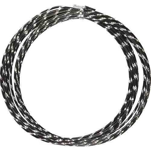 Packlinq Aluminiumdraht, Stärke: 2 mm, Schwarz, diamond-cut, 7m