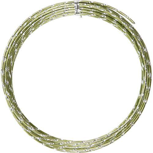 Packlinq Aluminiumdraht, Stärke: 2 mm, Grün, diamond-cut, 7m