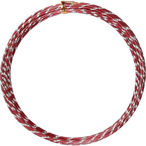 Packlinq Aluminiumdraht, Stärke: 2 mm, Rot, diamond-cut, 7m