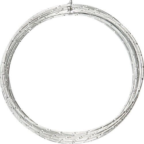 Packlinq Aluminiumdraht, Stärke: 2 mm, Silber, diamond-cut, 7m
