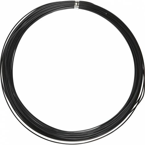 Packlinq Aluminiumdraht, Stärke: 1 mm, Schwarz, rund, 16m