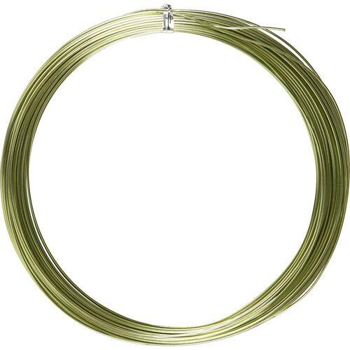 Packlinq Aluminiumdraht, Stärke: 1 mm, Grün, rund, 16m