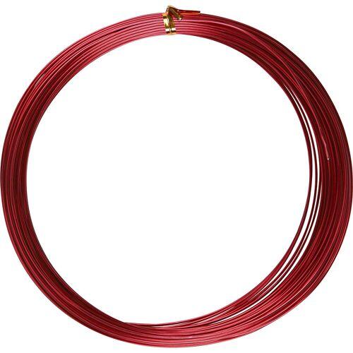 Packlinq Aluminiumdraht, Stärke: 1 mm, Rot, rund, 16m