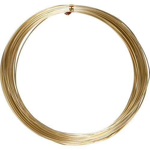 Packlinq Aluminiumdraht, Stärke: 1 mm, Gold, rund, 16m