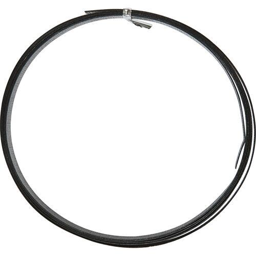 Packlinq Aluminiumdraht, B 15 mm, Stärke: 0,5 mm, Schwarz, flach, 2m