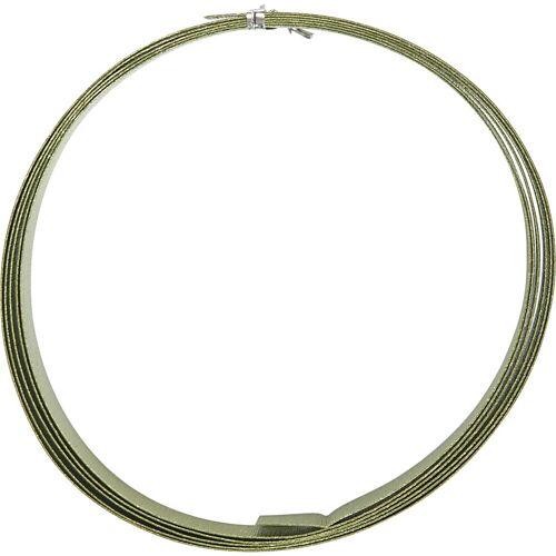 Packlinq Aluminiumdraht, B 15 mm, Stärke: 0,5 mm, Grün, flach, 2m