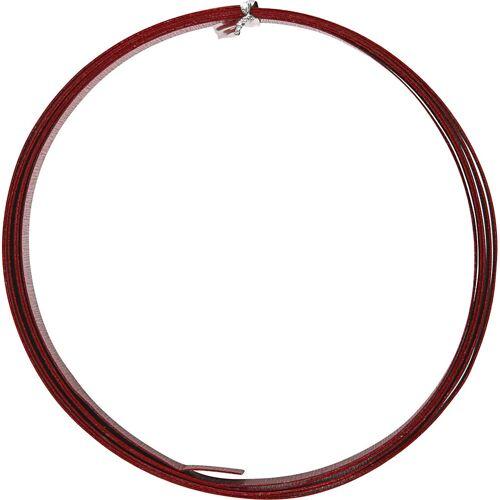Packlinq Aluminiumdraht, B 15 mm, Stärke: 0,5 mm, Rot, flach, 2m