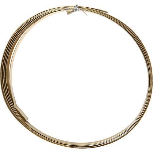 Packlinq Aluminiumdraht, B 15 mm, Stärke: 0,5 mm, Gold, flach, 2m