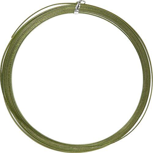 Packlinq Aluminiumdraht, B 3,5 mm, Stärke: 0,5 mm, Grün, flach, 4,5m