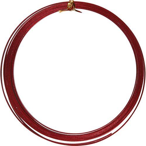 Packlinq Aluminiumdraht, B 3,5 mm, Stärke: 0,5 mm, Rot, flach, 4,5m