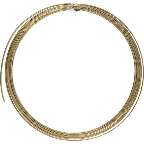 Packlinq Aluminiumdraht, B 3,5 mm, Stärke: 0,5 mm, Gold, flach, 4,5m