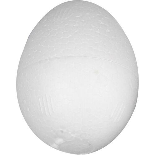 Packlinq Styropor-Eier, H 3,7 cm, Weiß, Styropor, 100Stck.