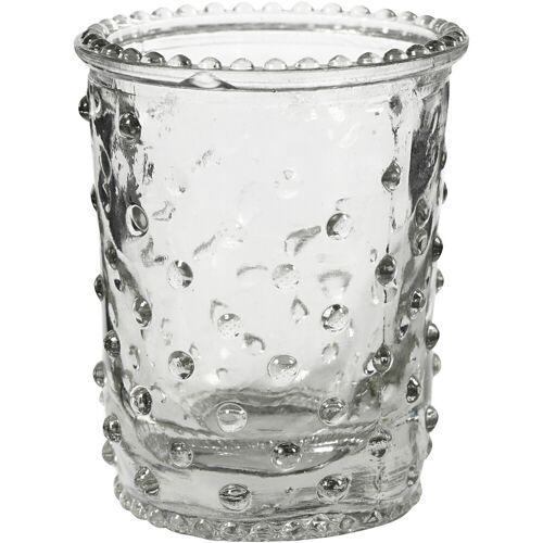 Packlinq Kerzenglas, H 7,8 cm, D: 6,4 cm, 6Stck., 100 ml