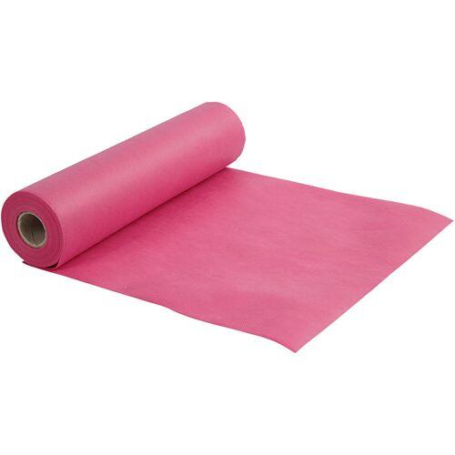 Packlinq Tischläufer aus Stoff-Imitat, Pink, B 35 cm, 70 g/qm, 10m