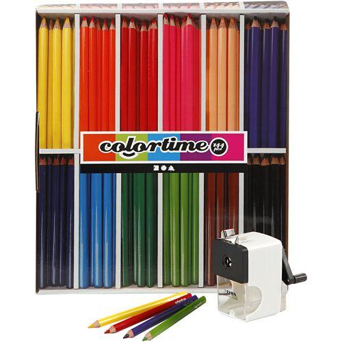 Packlinq Colortime Buntstifte JUMBO - Sortiment, Mine: 5 mm, Sortierte Farben, Grau, Qualitäts-Set, 1Set