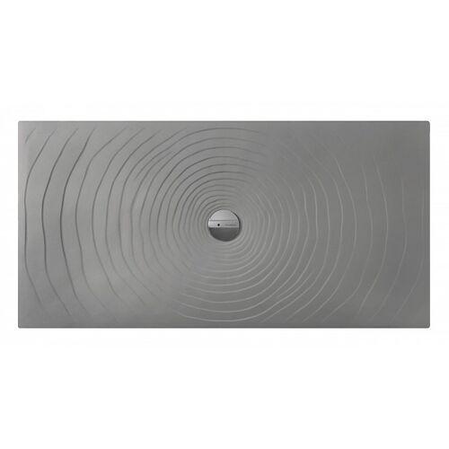Flaminia Wassertropfen Duschwanne 140x80 H5.5 Keramik Lava Grau