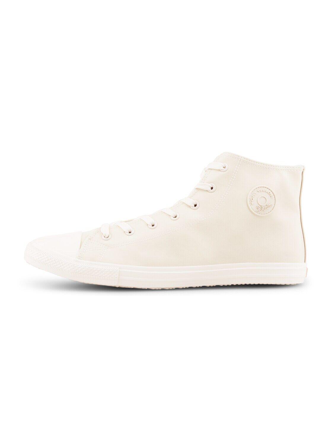 TOM TAILOR DENIM Herren Basic High Top Sneaker, weiß, Gr.45