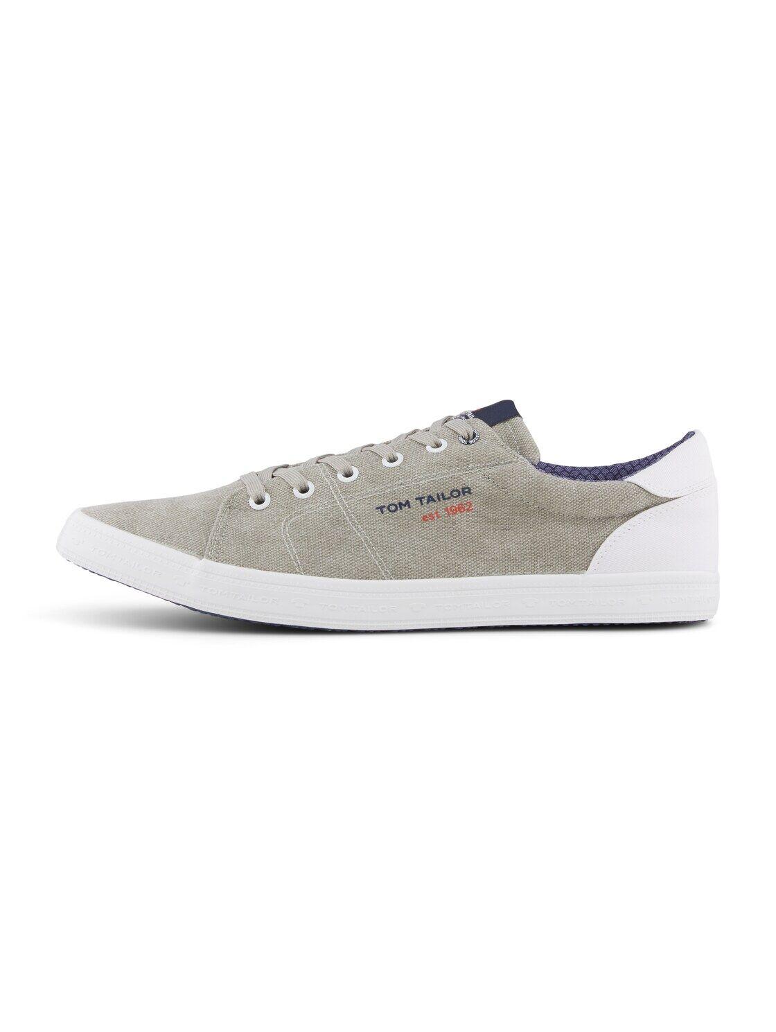 TOM TAILOR Herren Melierter Sneaker, grau, Gr.42