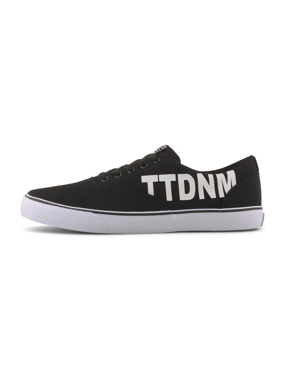 TOM TAILOR DENIM Herren Sneaker mit Logo-Print, schwarz, Gr.44