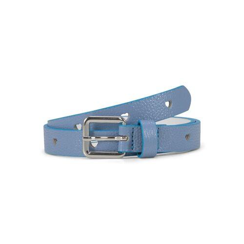 TOM TAILOR Kinder Glitzer Ledergürtel mit Herzmuster, blau, Gr.65