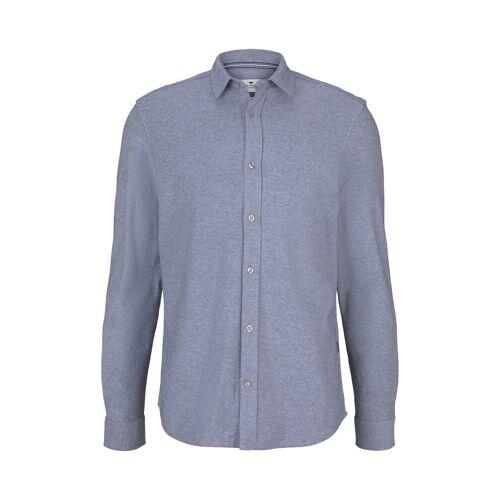 TOM TAILOR Herren Hemd mit Kentkragen, grau, Gr.S