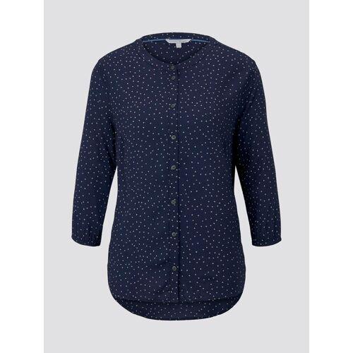 TOM TAILOR DENIM Damen Gepunktete Bluse, blau, gepunktet, Gr.XS
