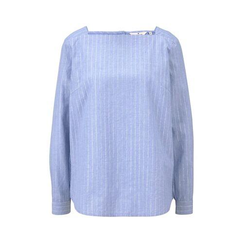 TOM TAILOR Damen Bluse mit Glitzerfäden, blau, Gr.38