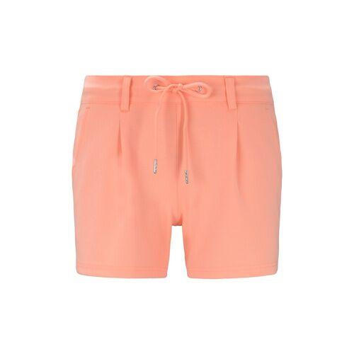 TOM TAILOR DENIM Damen Ponte Shorts im Relaxed Fit, orange, unifarben