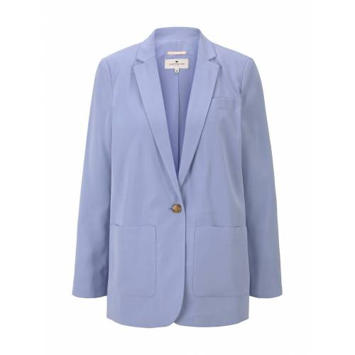 TOM TAILOR Damen Lockerer Blazer, blau, Gr.34