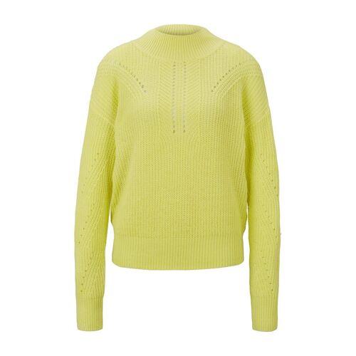 TOM TAILOR DENIM Damen Chenille-Pullover, gelb, Gr.XXL