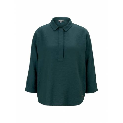 TOM TAILOR MINE TO FIVE Damen Bluse mit Fledermausärmeln, grün, Gr.44