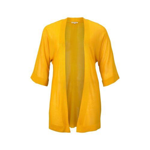 TOM TAILOR MY TRUE ME Damen Lockerer Kimono-Cardigan, gelb, Gr.48