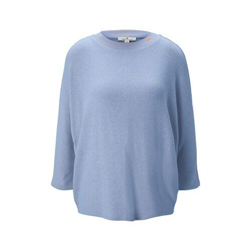 TOM TAILOR Damen Shirt mit Fledermausärmeln, blau, Gr.L