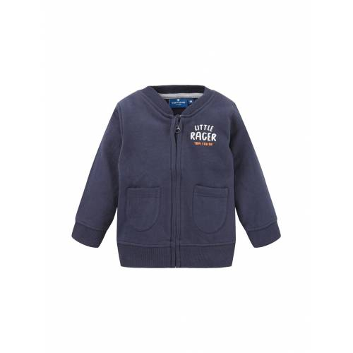 TOM TAILOR Baby Gestreifte Sweatjacke, blau, Gr.92