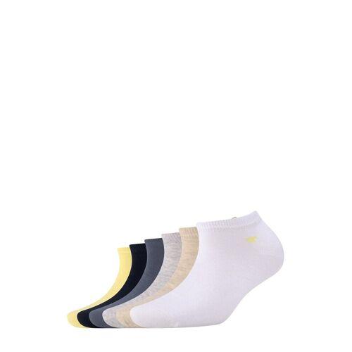TOM TAILOR Damen Sneakersocken im Sechserpack, gelb, Gr.39-42