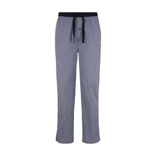 TOM TAILOR Herren Karierte Pyjama Hose, blau, kariert, Gr.56/XXL