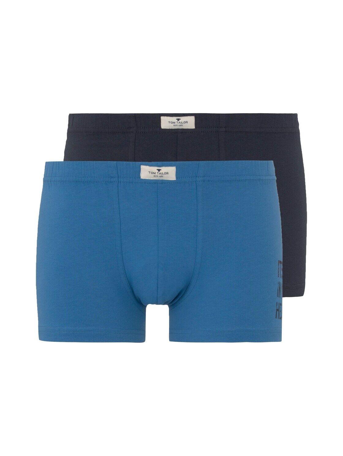 TOM TAILOR Herren Hip-Pants im Doppelpack, blau, Gr.S/4