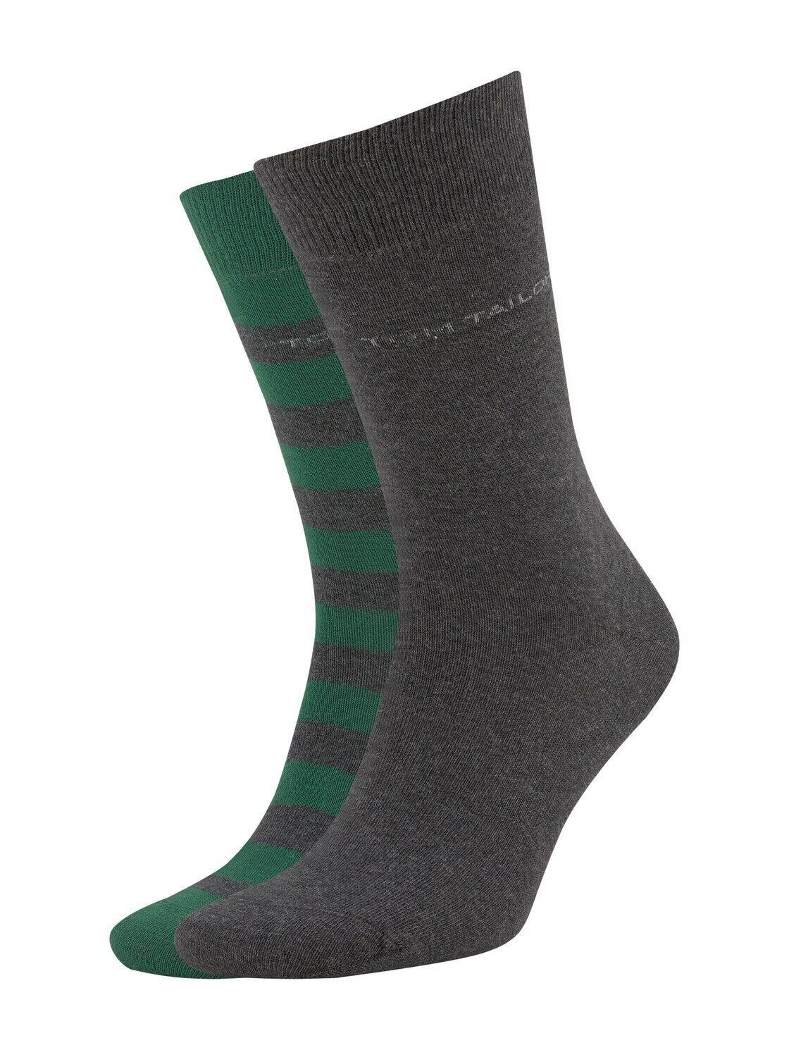 TOM TAILOR Herren Socken im Doppelpack, grün, Gr.39-42