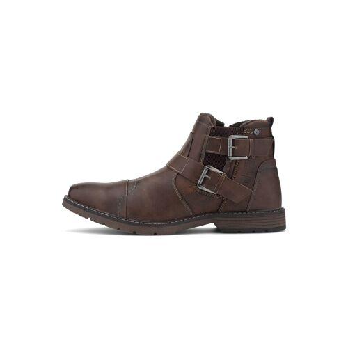 TOM TAILOR Herren Chelsea-Boots mit Schnallen, braun, Gr.44