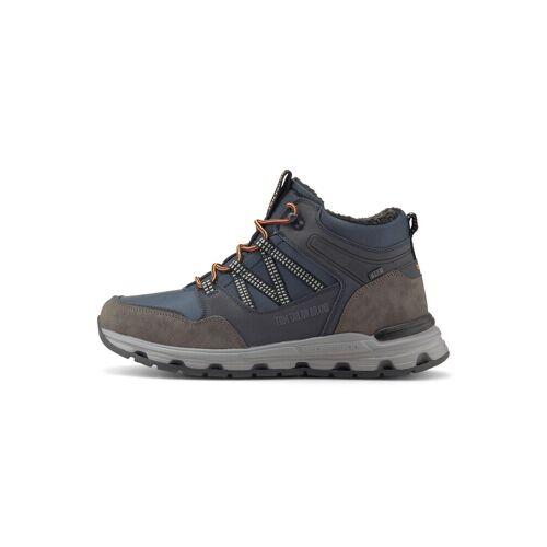 TOM TAILOR Herren Gefütterte Trekking Sneaker, blau, Gr.42