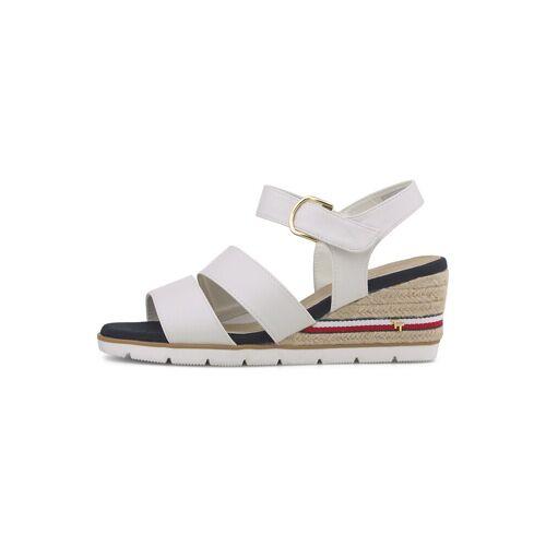 TOM TAILOR Damen Bequeme Sandalette mit Keilabsatz, weiß, Gr.40